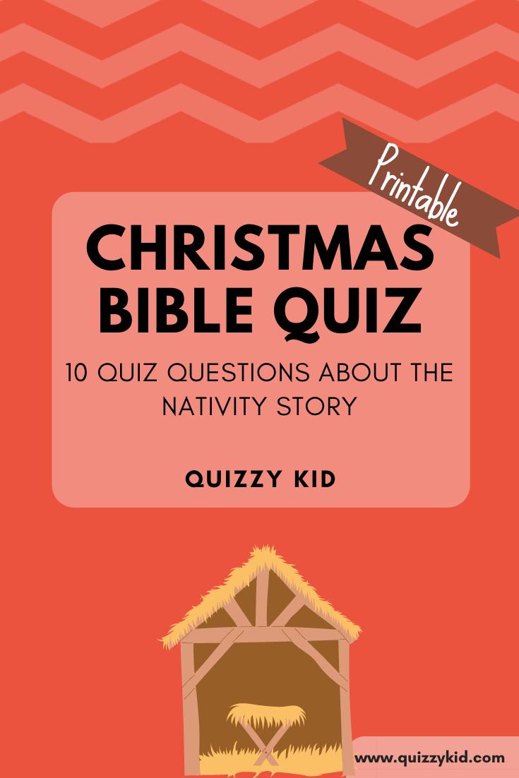 Christmas Bible Quiz Quizzy Kid