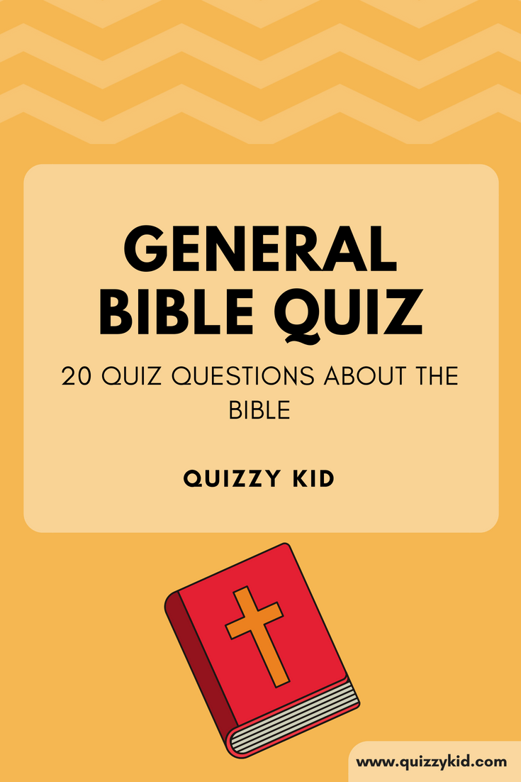20 quiz questions about the bible