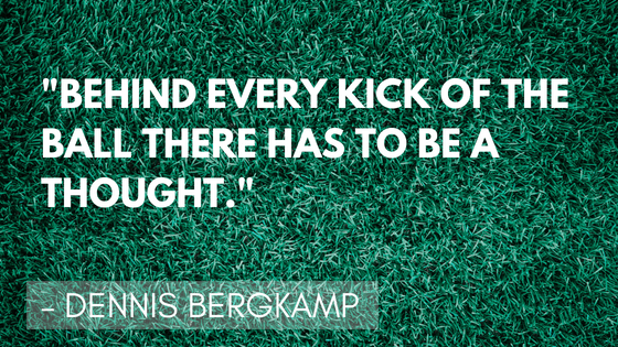 Inspirational soccer quotes - Bergkamp | Quizzy Kid