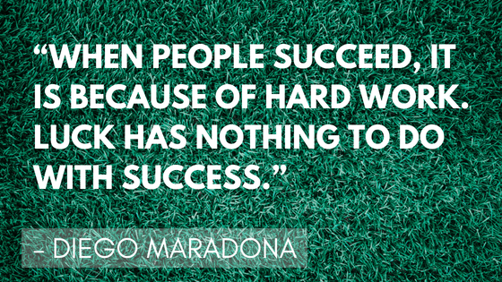 Inspirational soccer quotes - Diego Maradona | Quizzy Kid