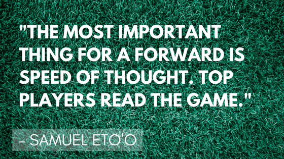 Inspirational soccer quotes - Eto | Quizzy Kid