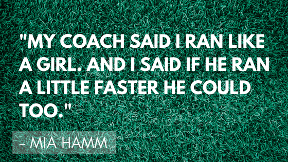 Inspirational soccer quotes - Hamm | Quizzy Kid