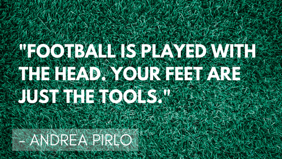 Inspirational soccer quotes - Pirlo | Quizzy Kid
