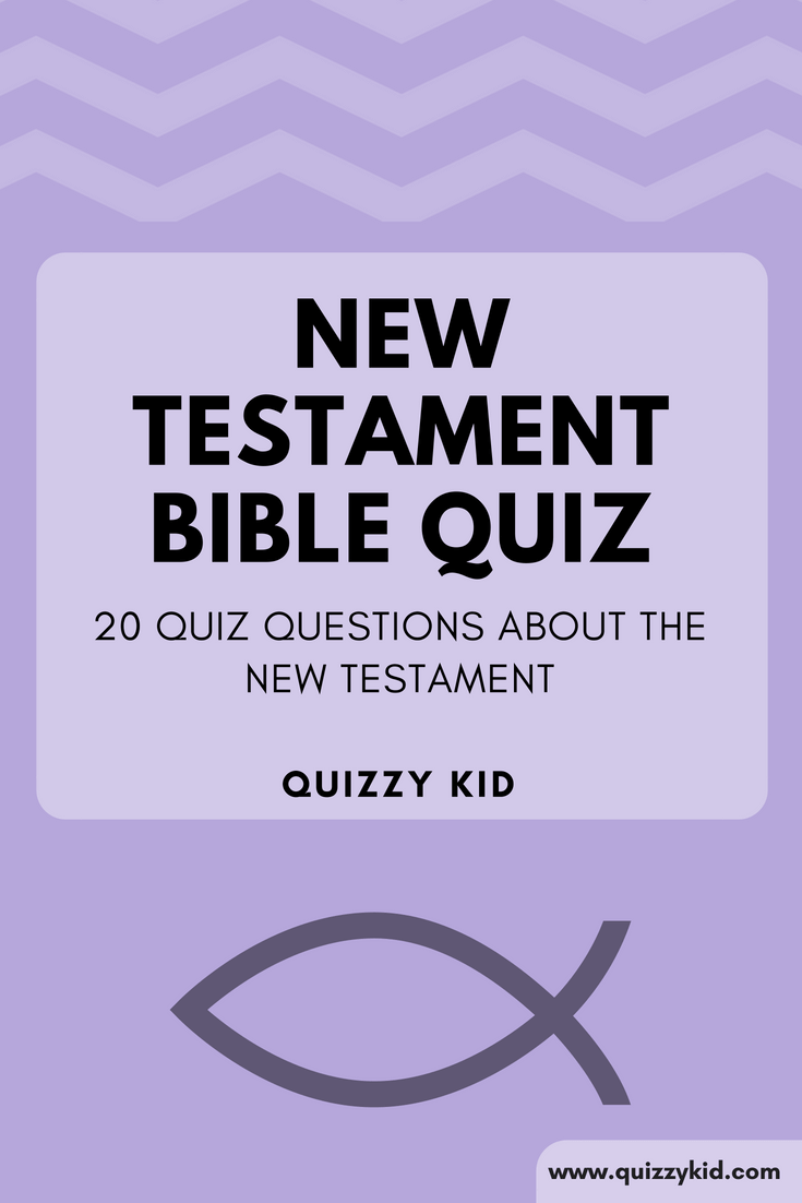 Perfect as a youth group quiz or just for use at home! This New Testament Bible quiz is fun and educational.