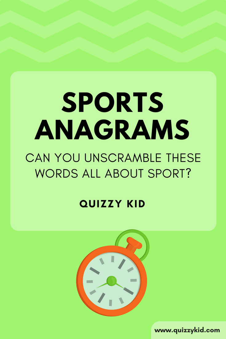 Sport Anagram quiz