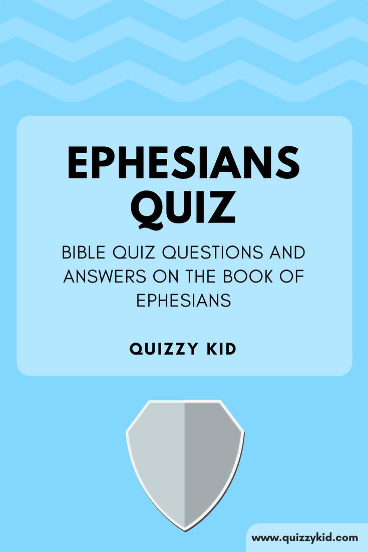 bible quiz on ephesians