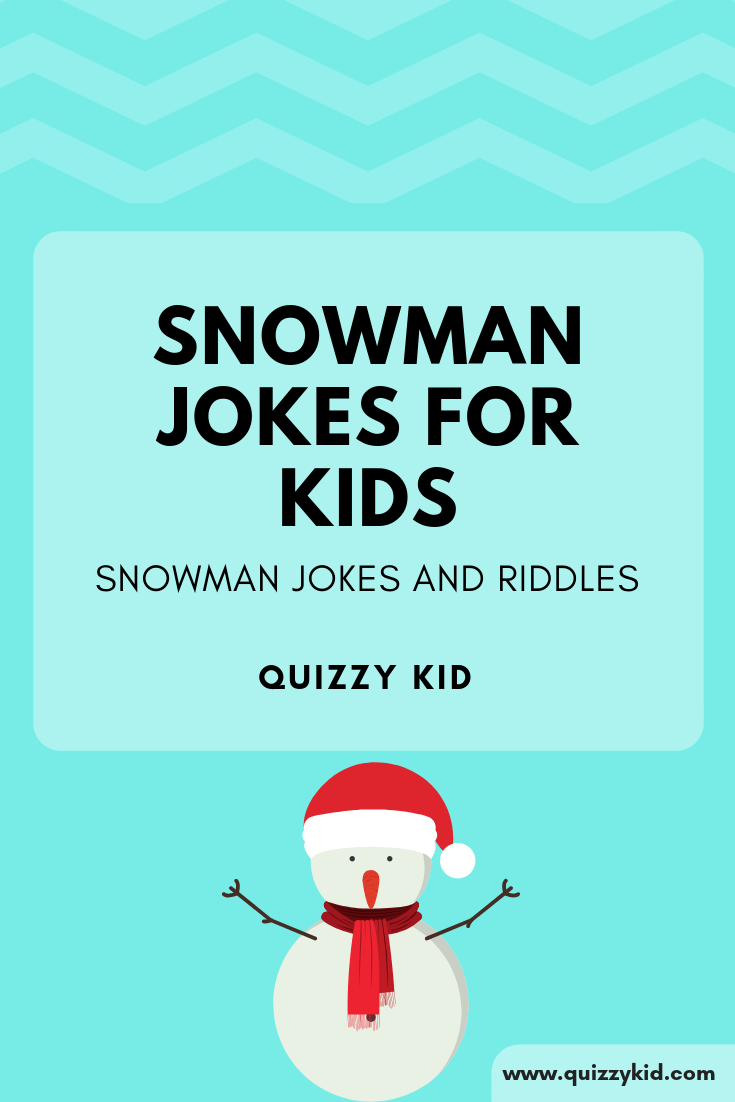 Snowman riddles for kids
