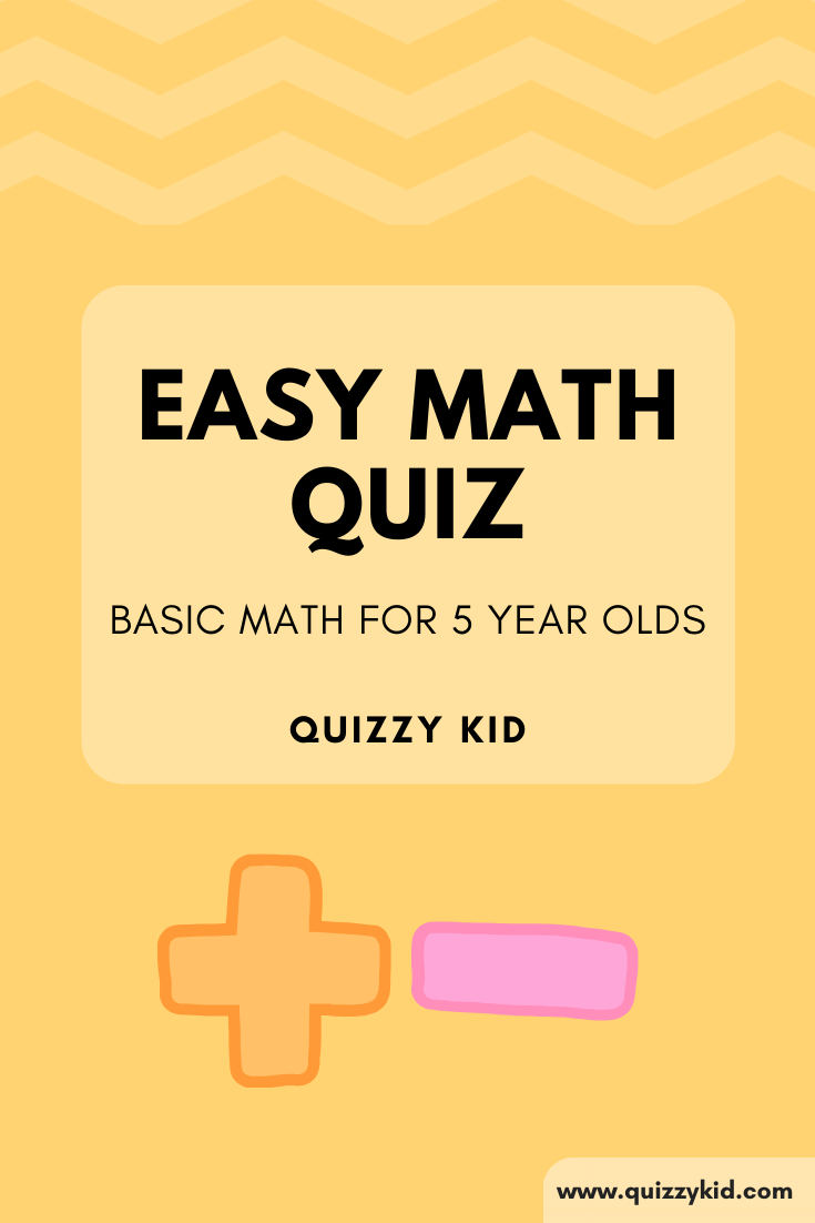 Math quiz for young kids