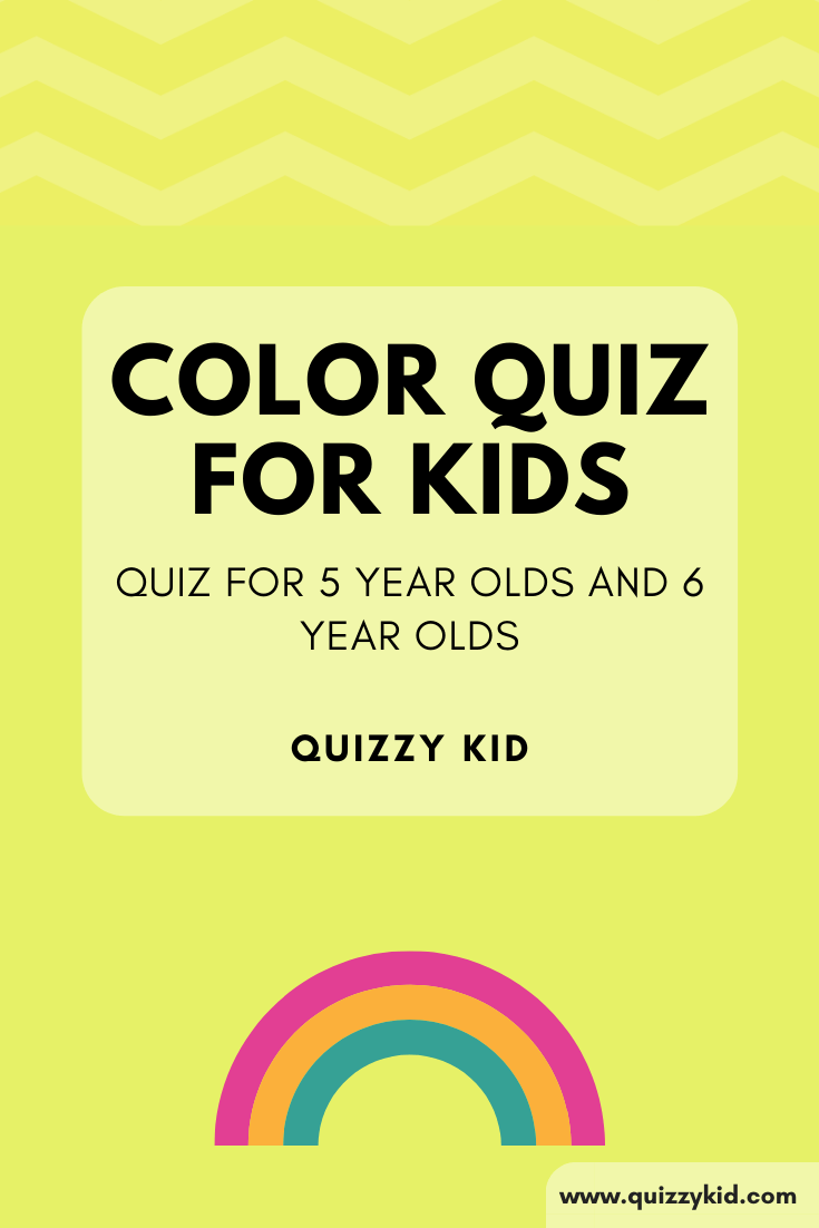 color quiz for 5 year olds