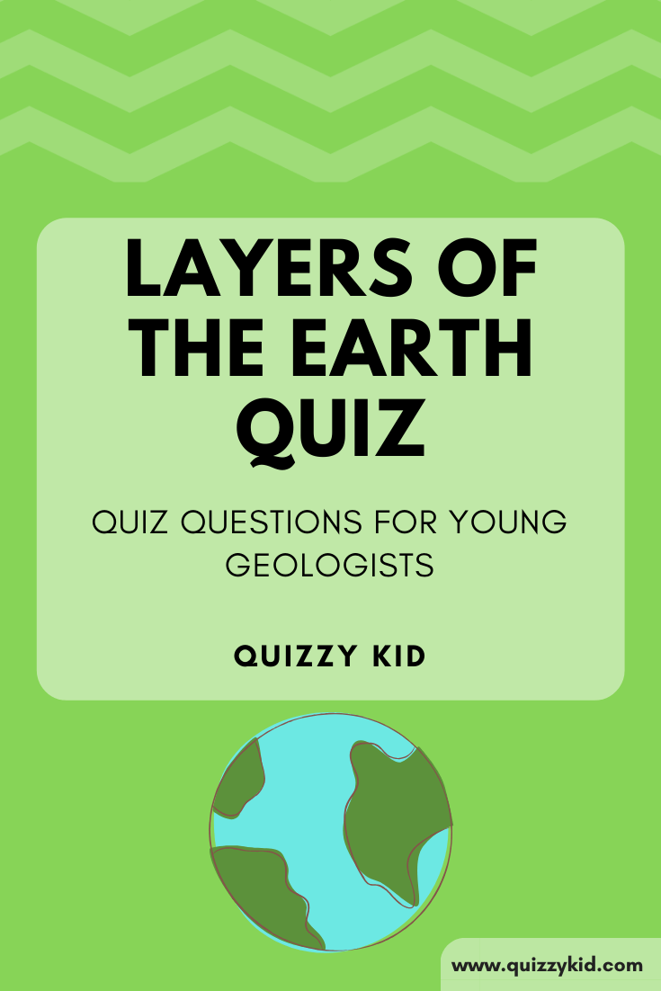 Layers of the earth quiz image